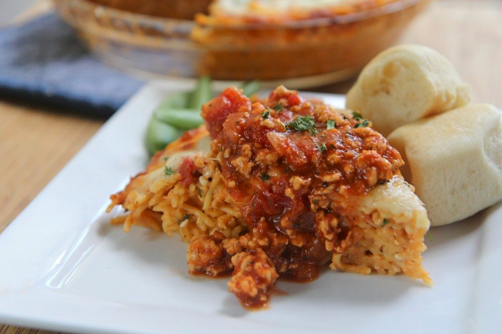 baked spaghetti pie recipe easy
