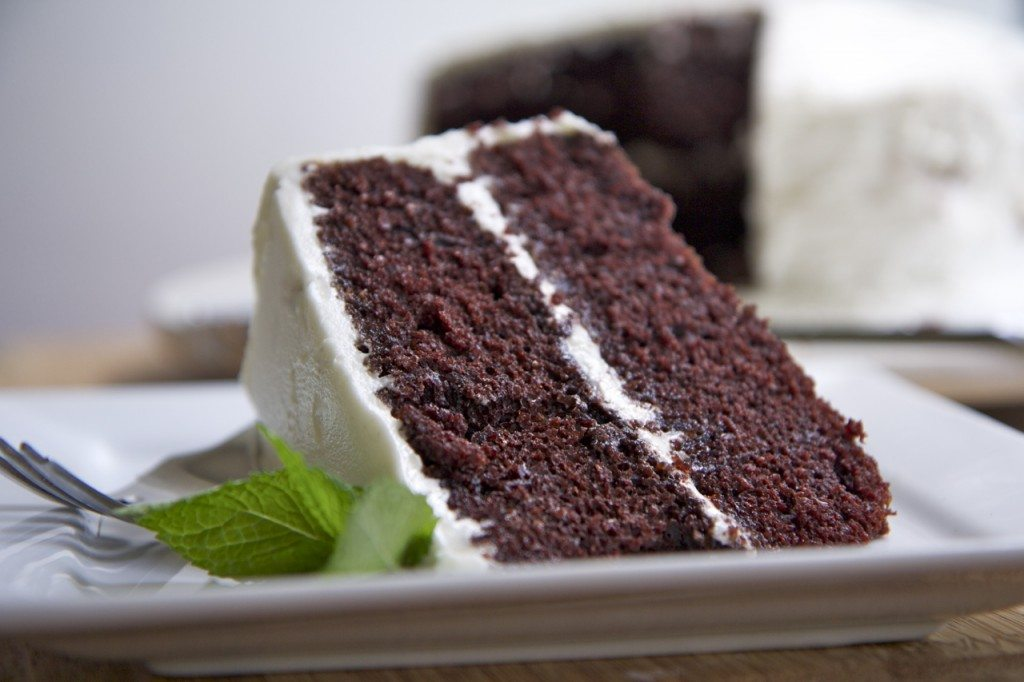 ... this super moist and fluffy devils food cake from start to finish