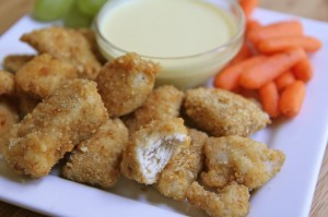 Baked Chicken Nuggets Recipe + Honey Mustard Dipping Sauce