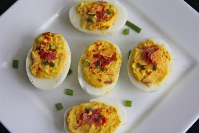 Bacon Cheddar Deviled Eggs | Divas Can Cook