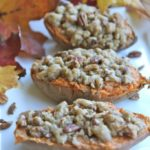 Twice Baked Sweet Potatoes w/ Butter Pecan Streusel