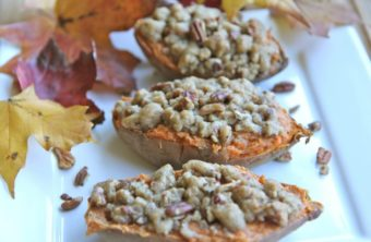 twice baked sweet potatoes butter pecan streusel