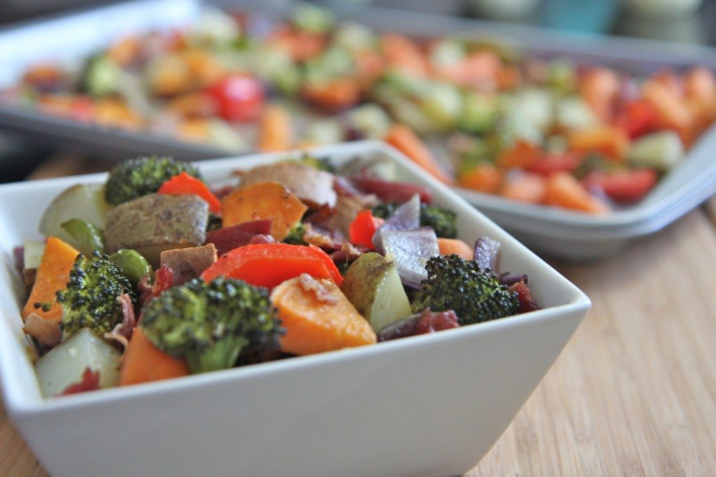 Oven Roasted Vegetables with BACON