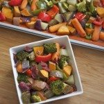 oven roasted vegetables bacon