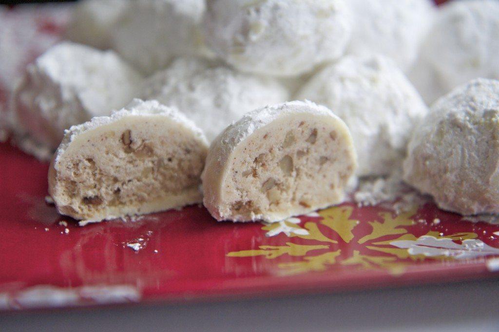 cinnamon pecan snowball cookies