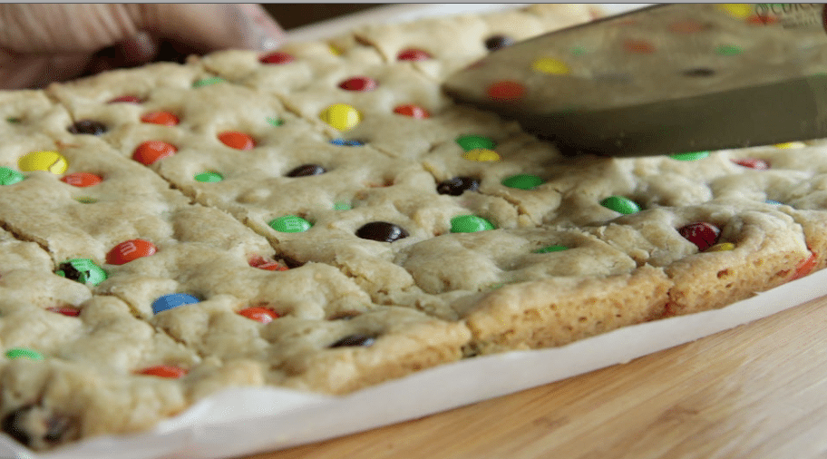 chewy m&m cookie bars recipe homemade