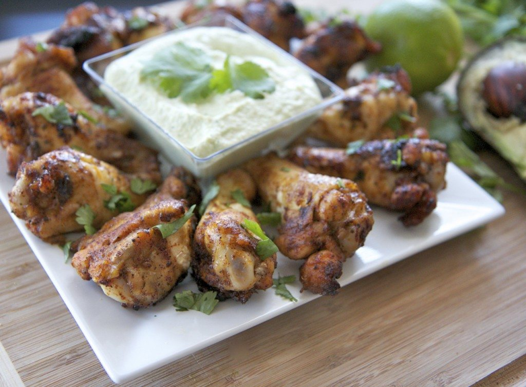 chipotle lime chicken wings recipe avocado sauce1