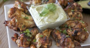Chipotle Lime Chicken Drummettes w/ Avocado Sauce