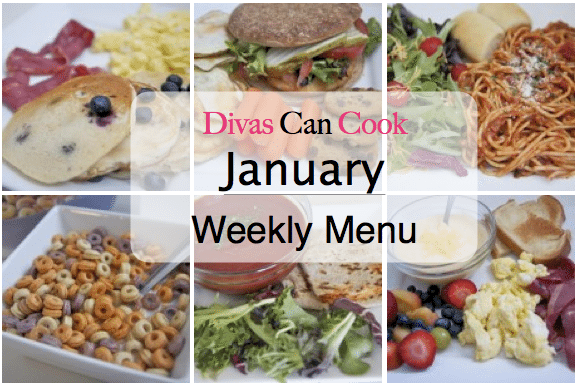 January Menu (A Healthier Attempt)