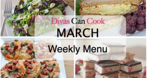 Weekly Menu #2 (March)