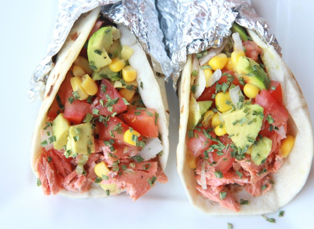 salmon tacos recipe (fish tacos) citrus brown butter