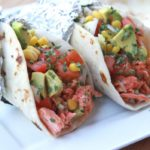 salmon tacos recipe (fish tacos) citrus brown butter