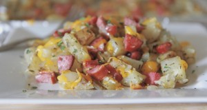 Live Below The Line Recipe: Cheesy Roasted Potatoes and Sausage
