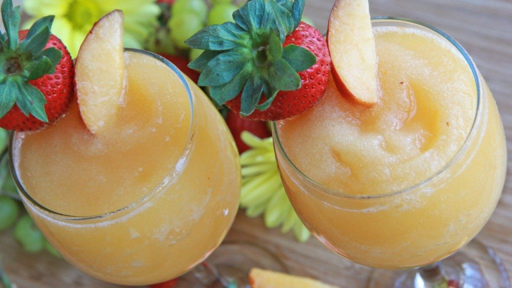 How To Make Wine Slushies Peach Moscato Divas Can Cook