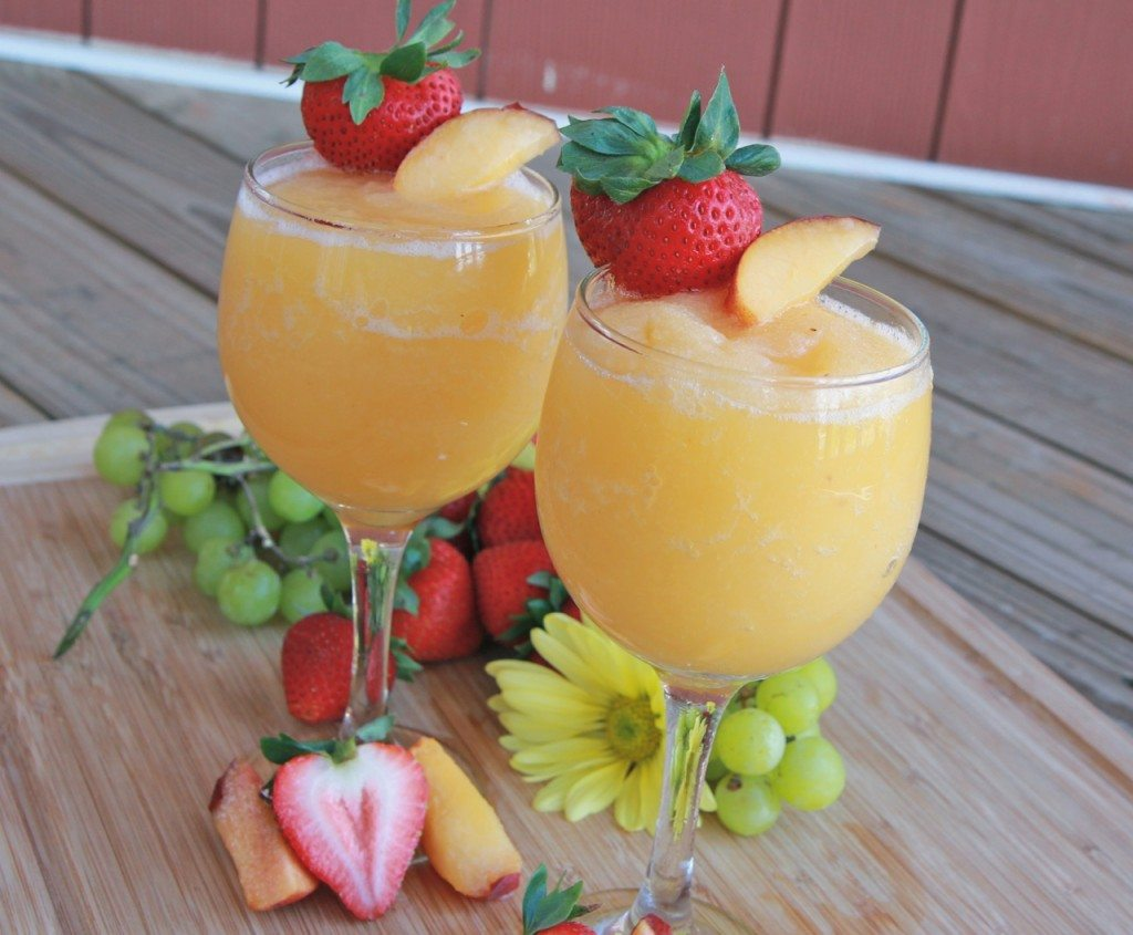 peach moscato wine slushies recipe homemade
