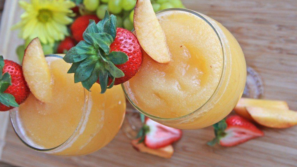 peach moscato wine slushies recipe homemade