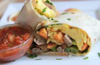 Autumn Breakfast Burrito
