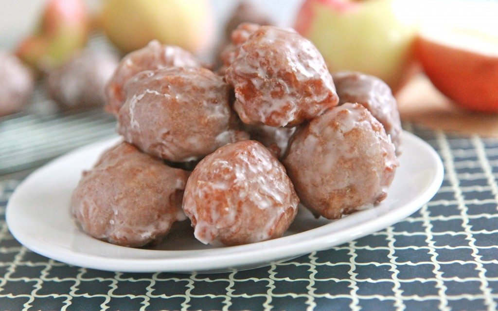 apple fritter doughnut bites recipe
