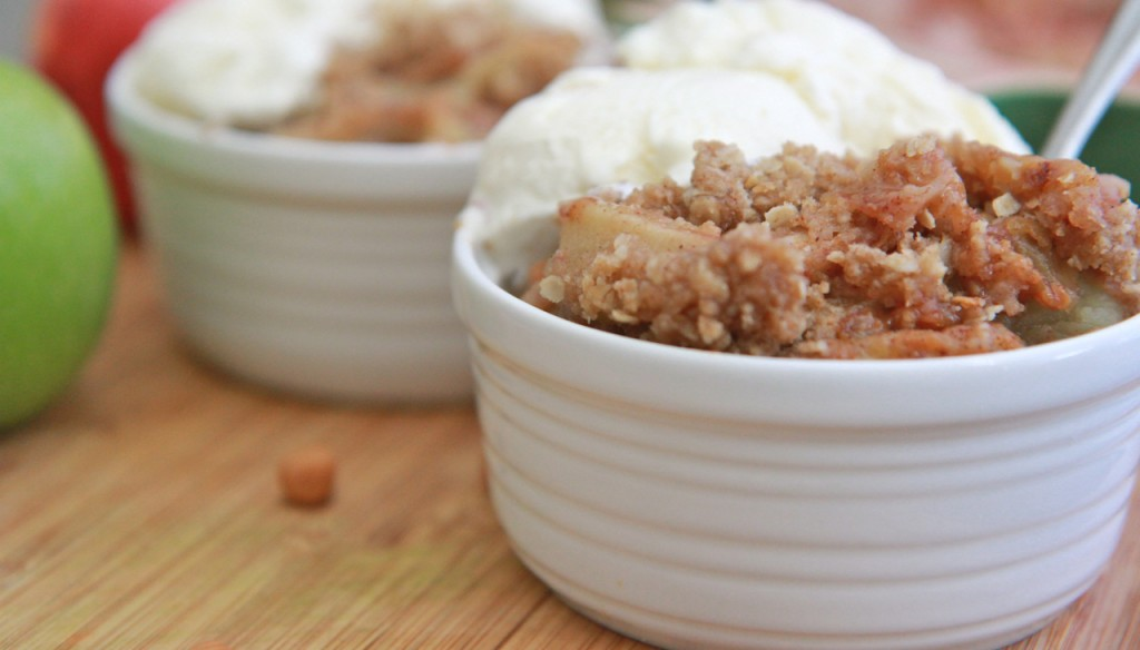 easy caramel apple crisp recipe 3