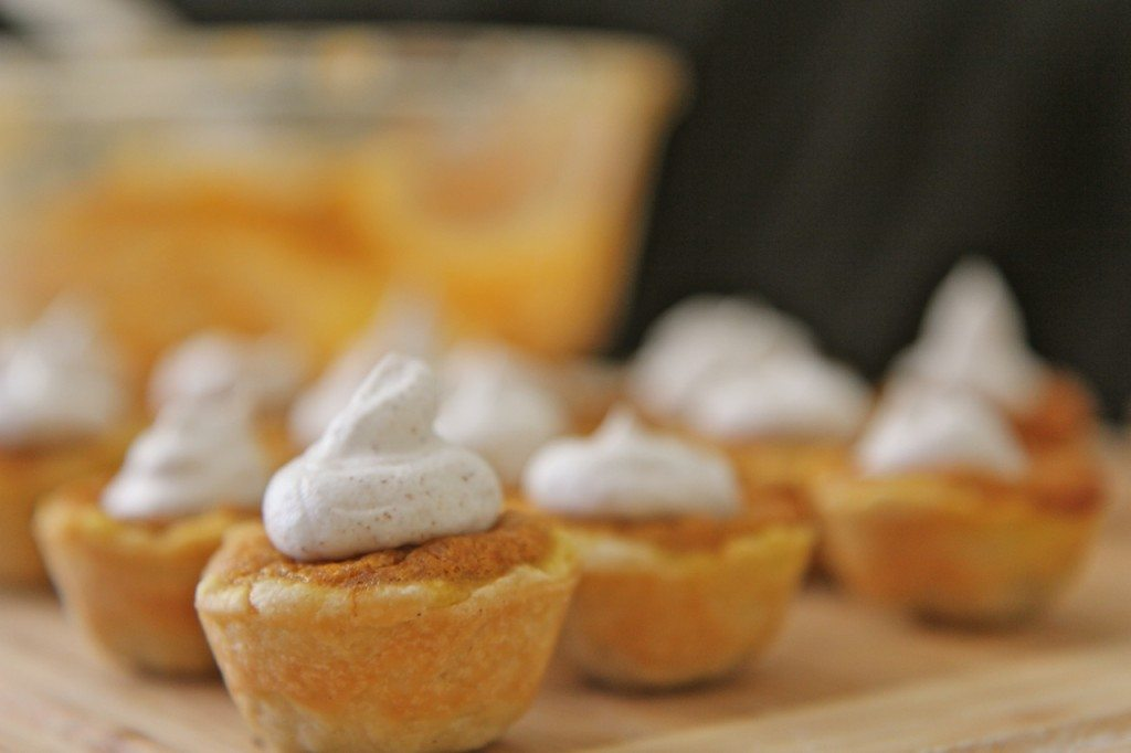 mini pumpkin pie bites recipe