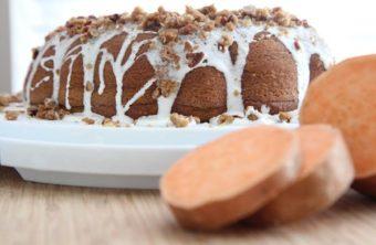 Sweet Potato Cake w/ Marshmallow Frosting & Pecan Crisp Topping