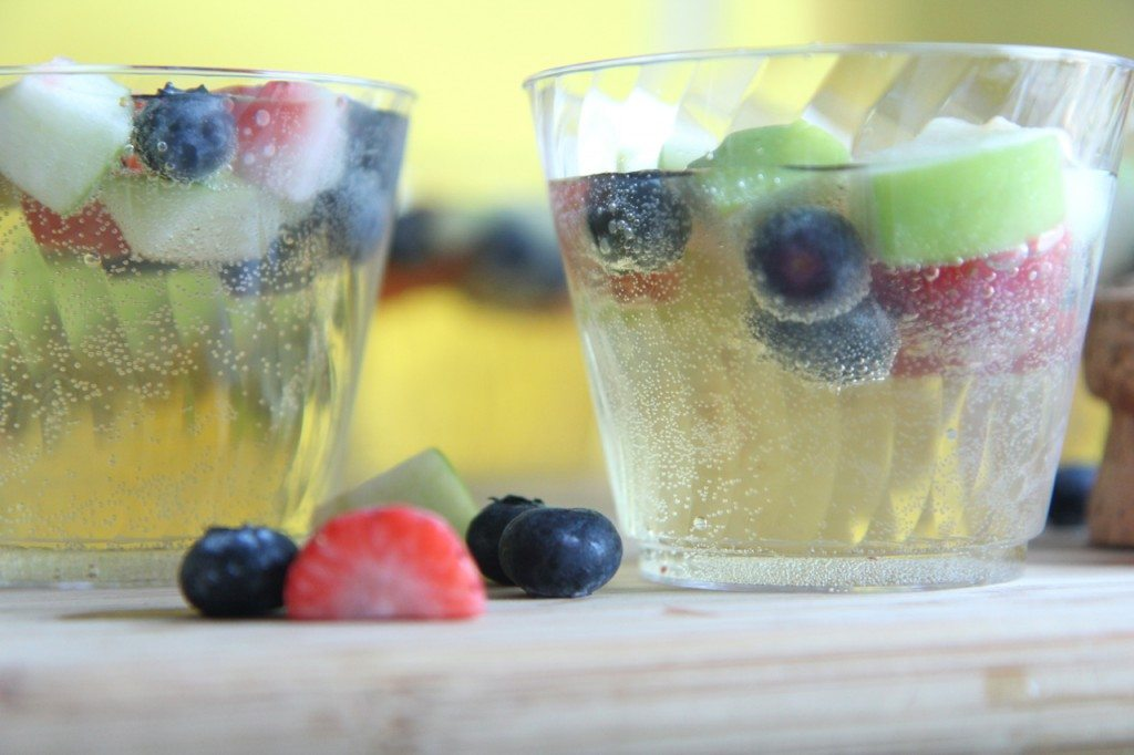 sparkling fruity champagne punch recipe easy