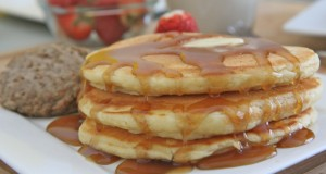 Fluffy Homemade Buttermilk Pancakes (Grandma Barb's)