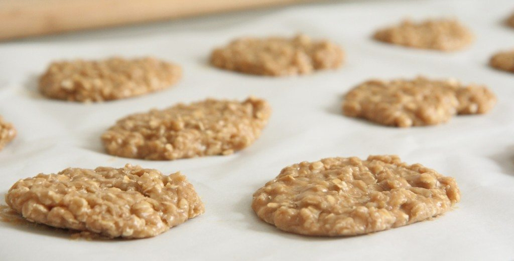 Old fashioned rolled oats peanut butter cookies