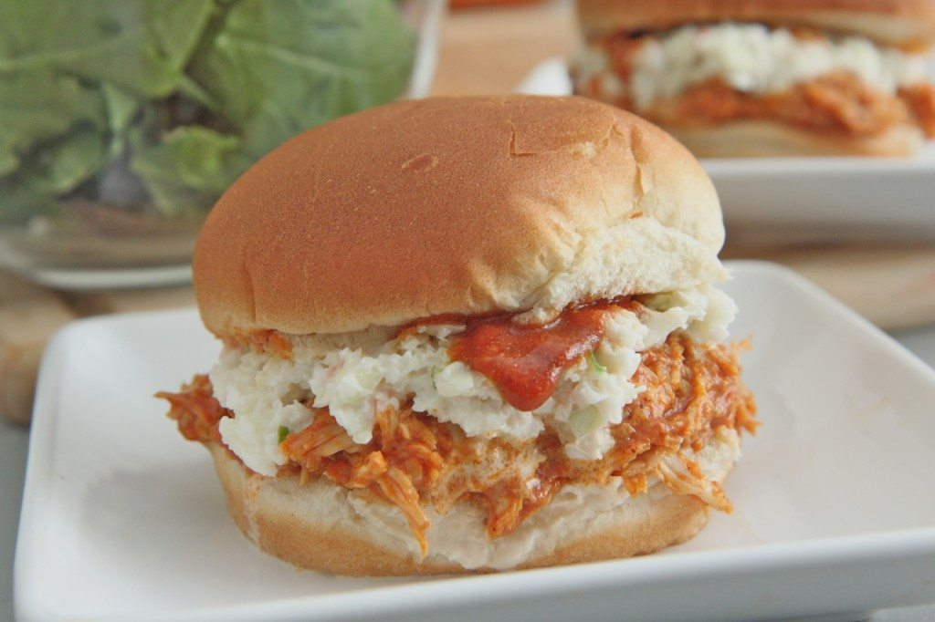 Sweet & Smokey Pulled bbq chicken sandwiches