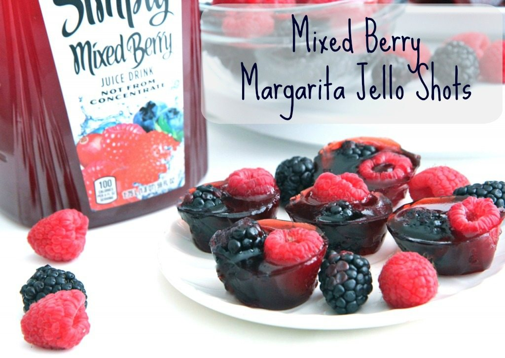 mixed berry margarita jello shots