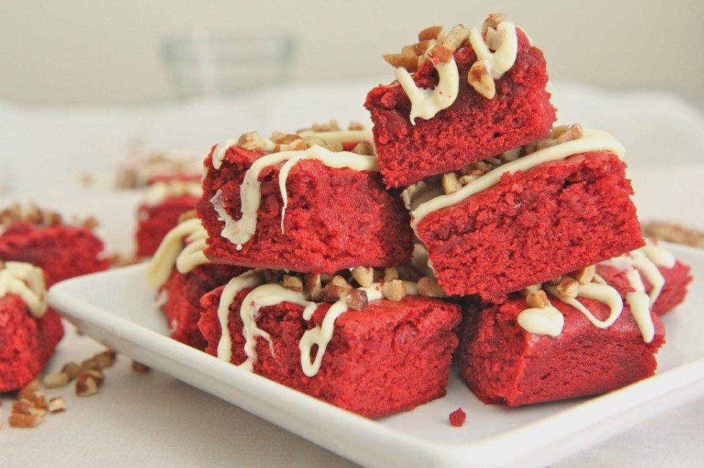 Chewy Red Velvet Brownies