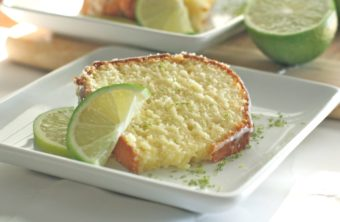 Key Lime Pound Cake w/ Key Lime Cream Cheese Glaze