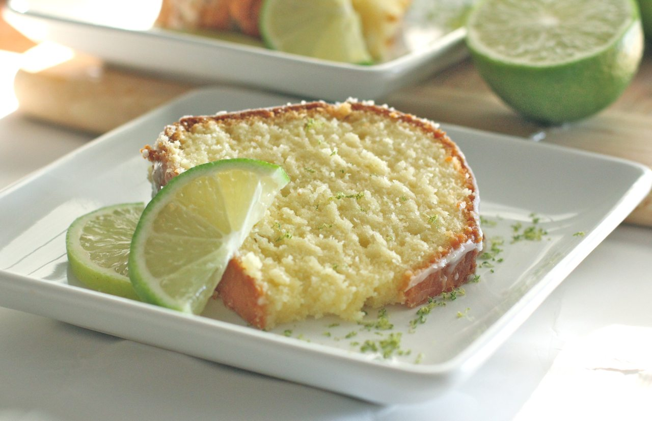 Glazed Lime Pound Cake