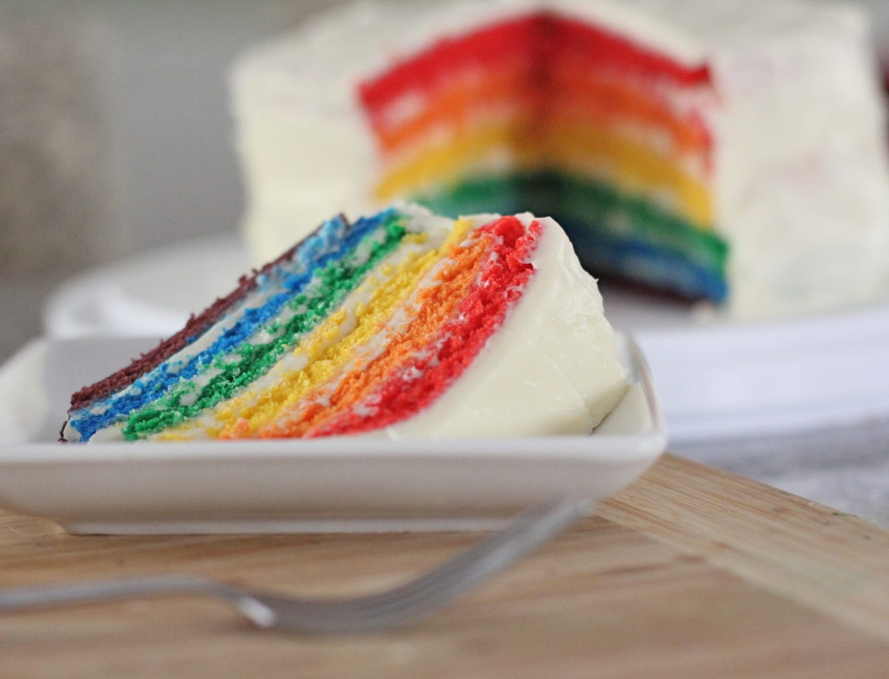 Easy Rainbow Cake…From Scratch!