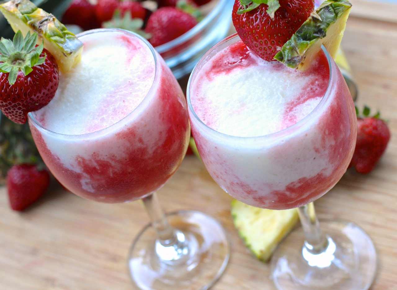 Easy Strawberry Pina Colada (Lava Flow)