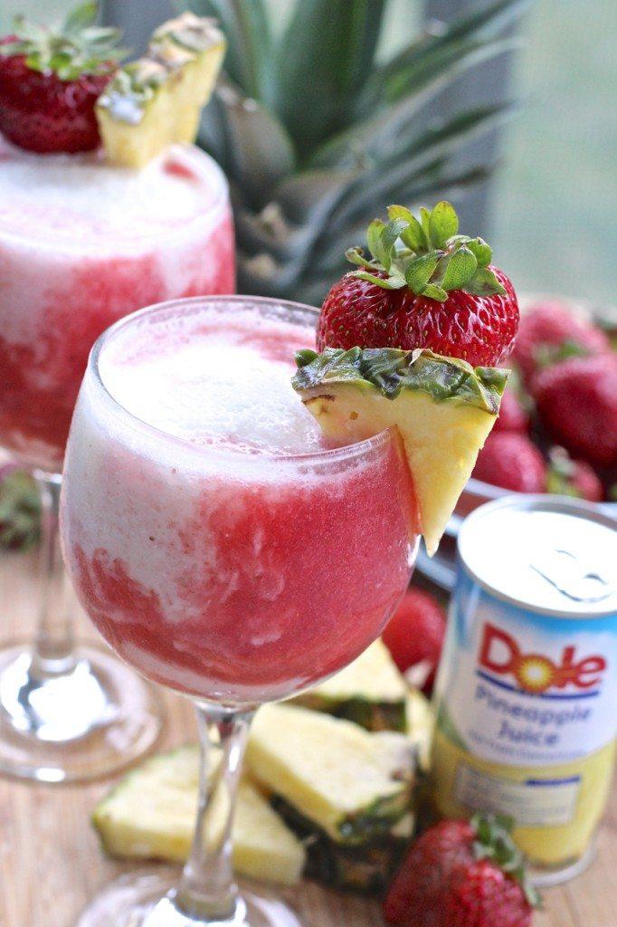 Easy Strawberry Pina Colada Lava Flow Divas Can Cook