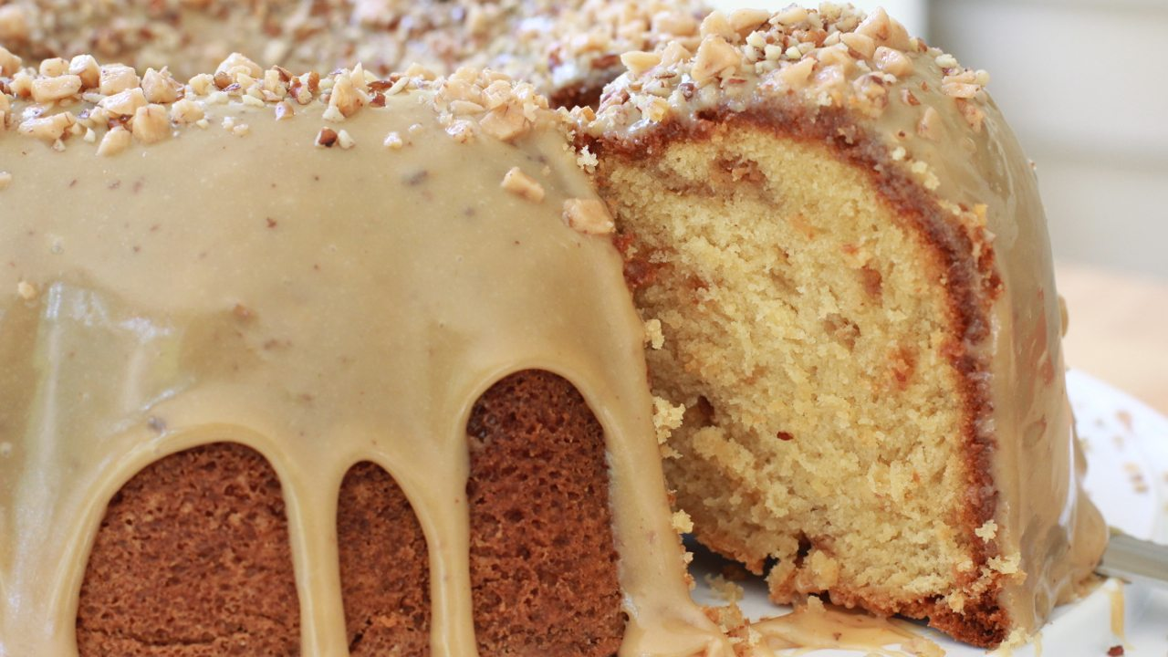 Brown Sugar Maple Pecan Pound Cake