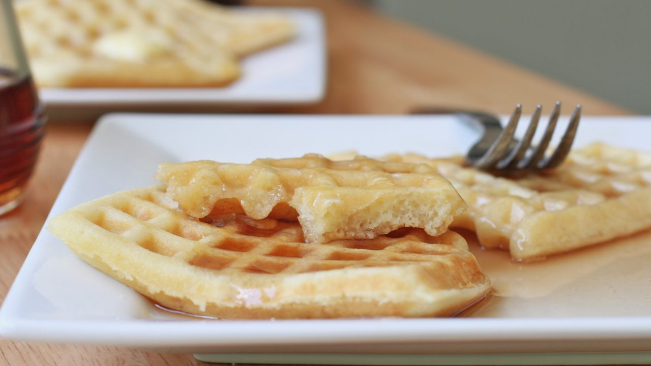 Easy, Old Fashioned Buttermilk Waffles (Like Roscoe's)