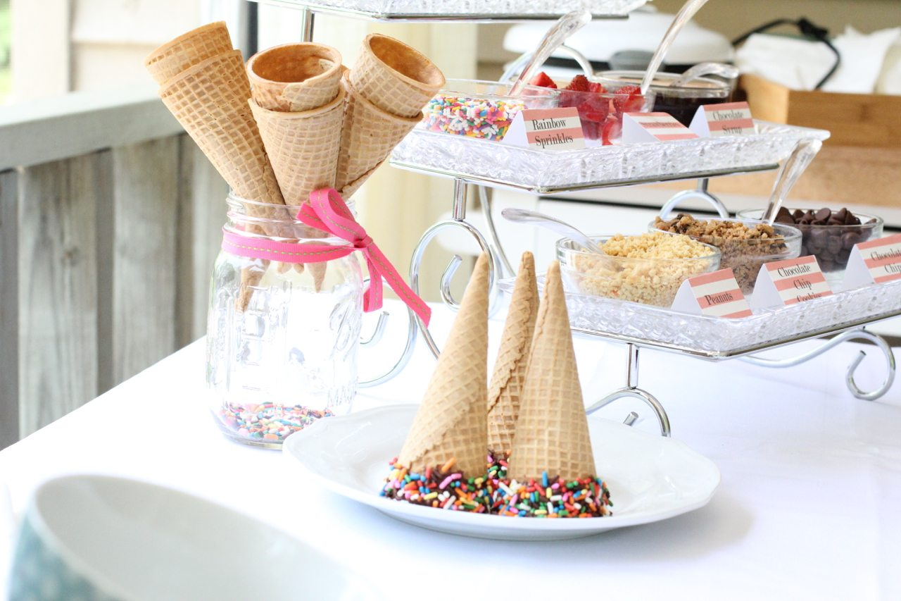 how to create an ice cream buffet 0