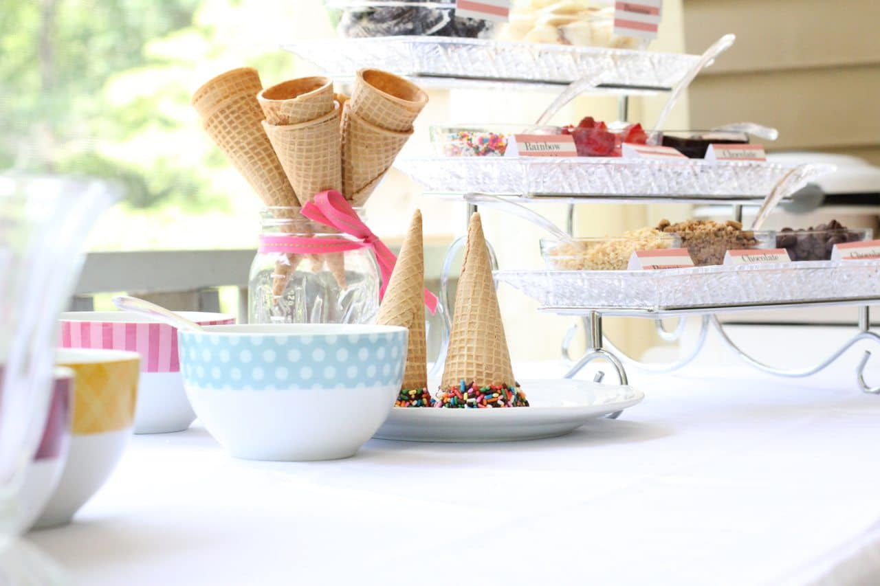 how to create an ice cream buffet 56