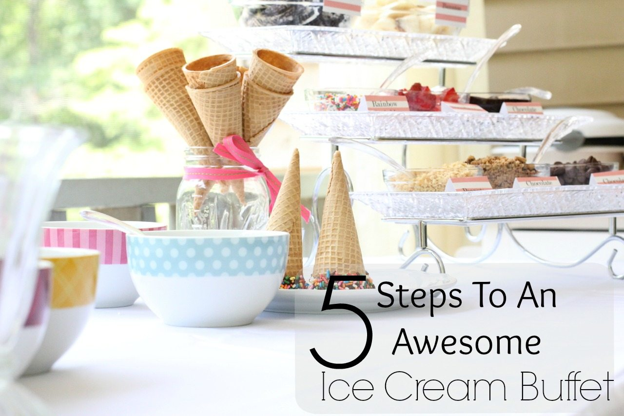 how to create an ice cream buffet 856