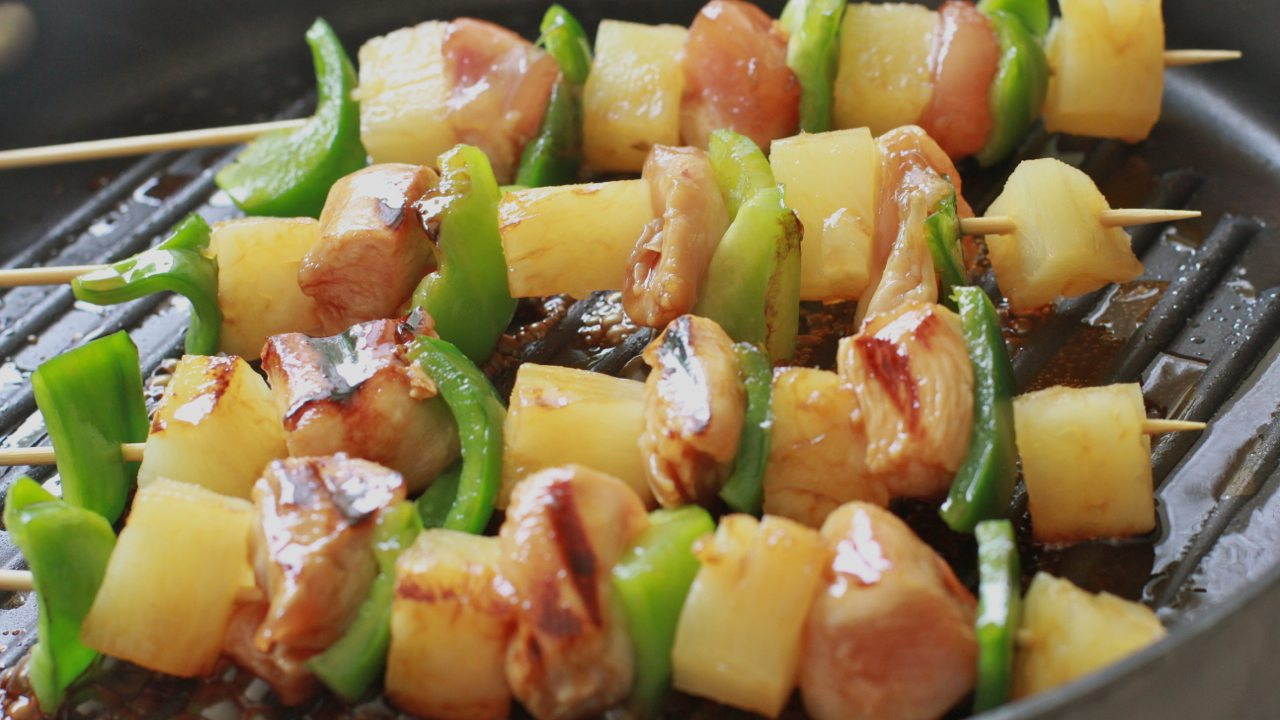 Easy Pineapple Chicken Kabobs Divas Can Cook