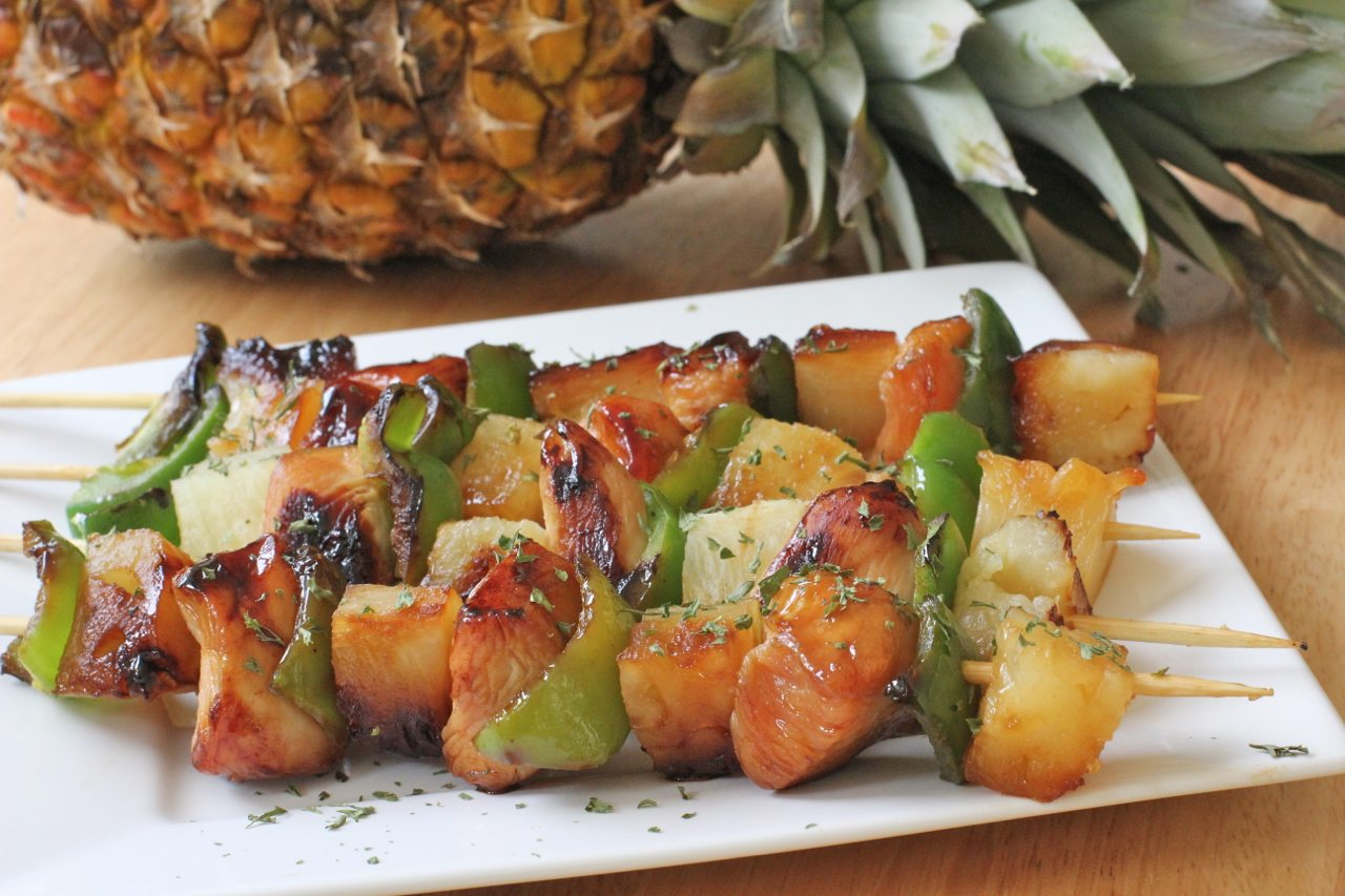 Easy Pineapple Chicken Kabobs