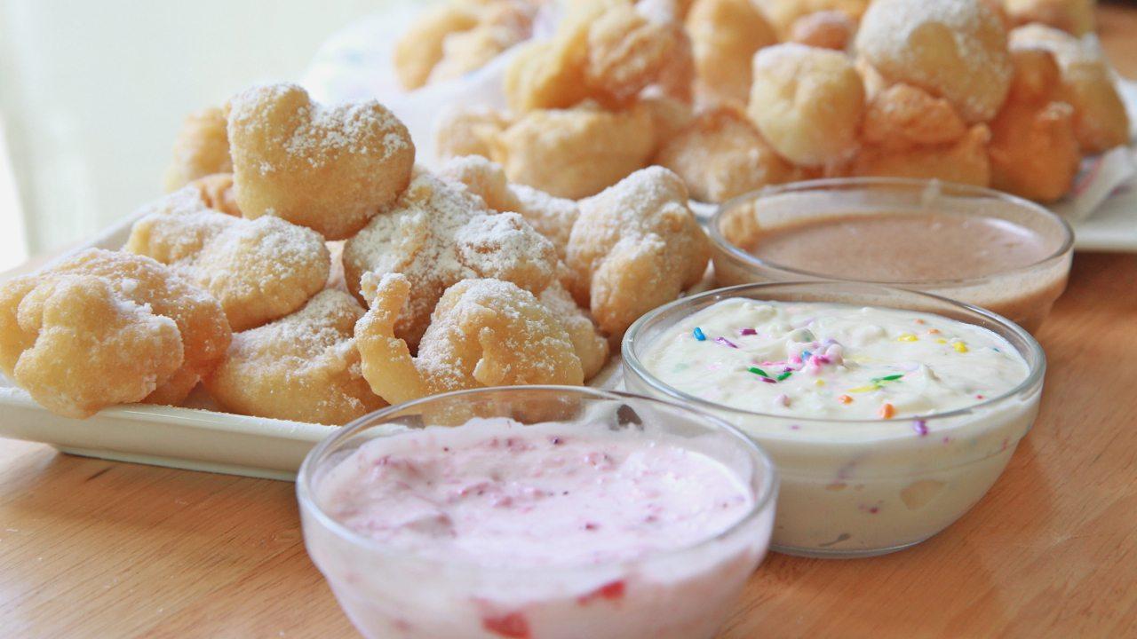 Funnel Cake Bites & Sauce