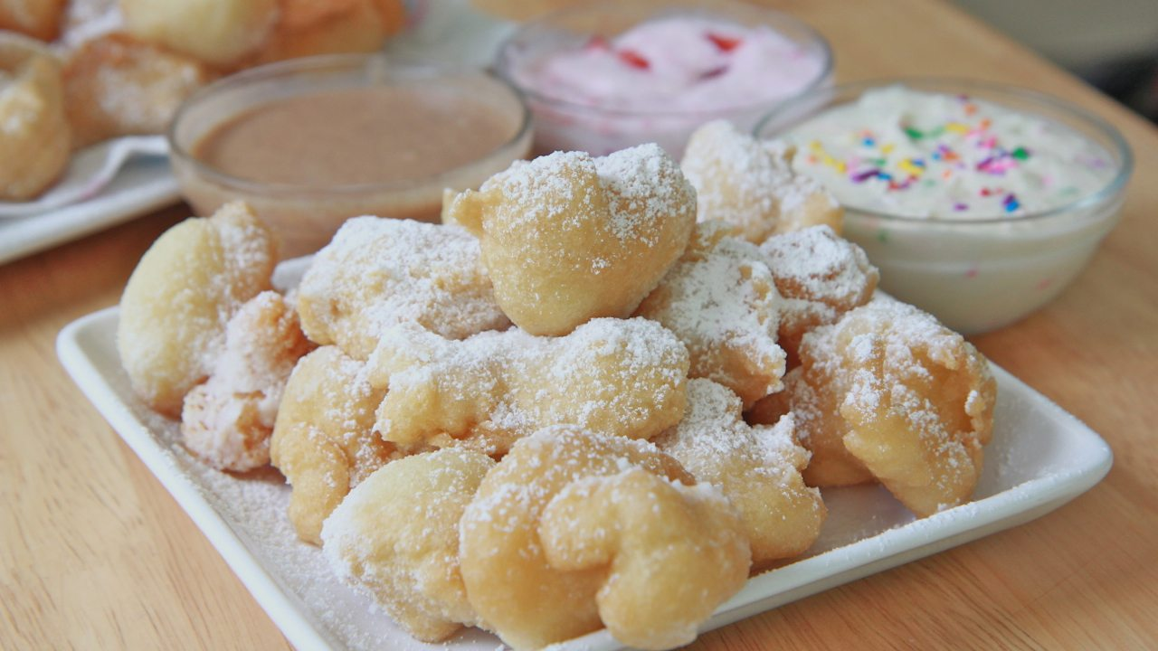 Easy funnel cake bites recipe divas can cook