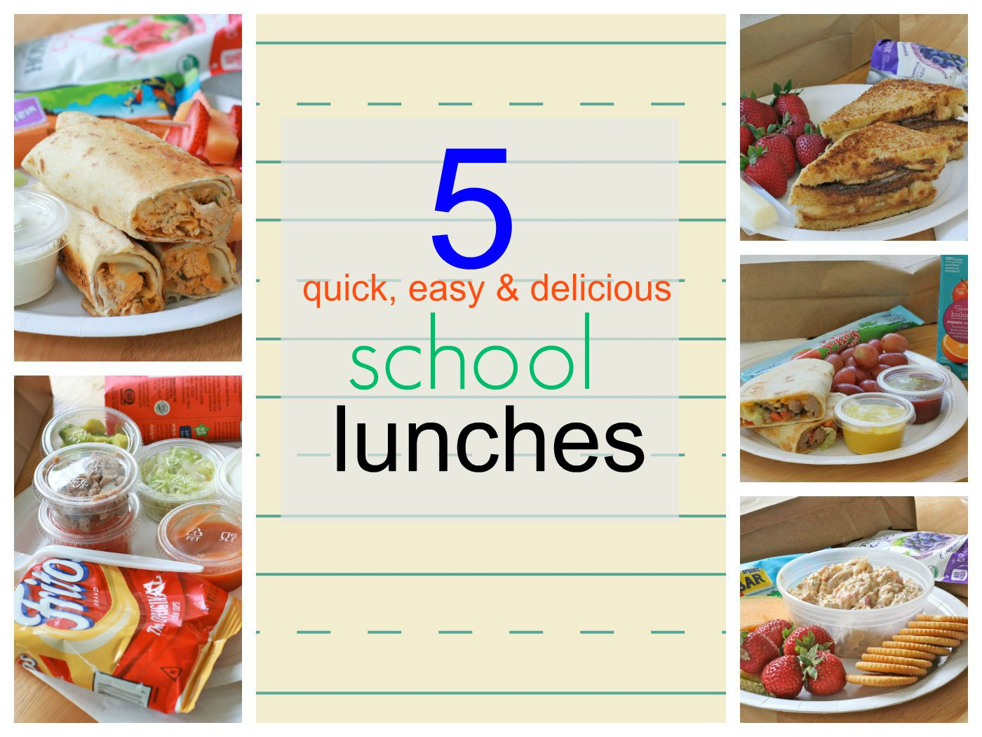 Easy School Lunch Idea Recipes | Divas Can Cook