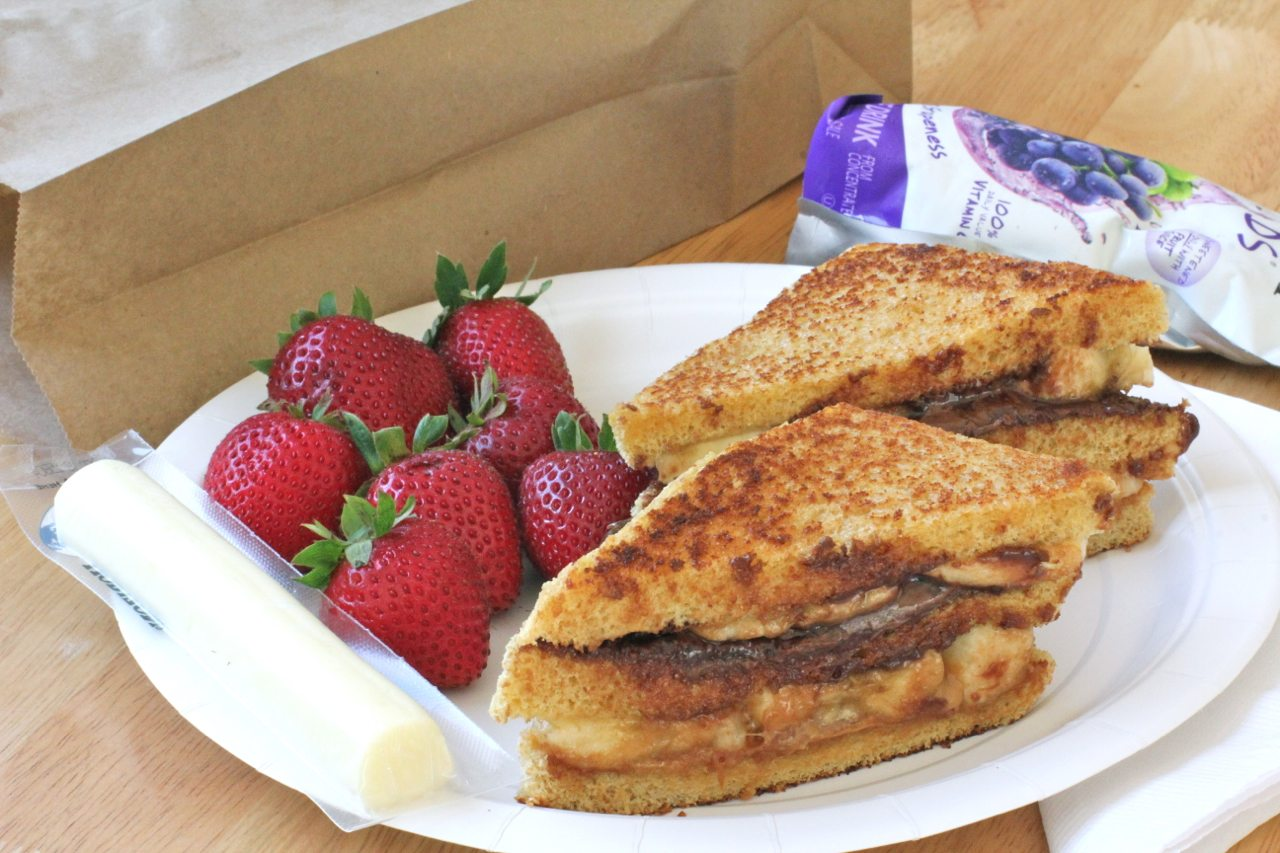 nutella sandwich lunch