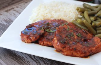 Sweet & Spicy Coca-Cola Glazed Turkey Chops