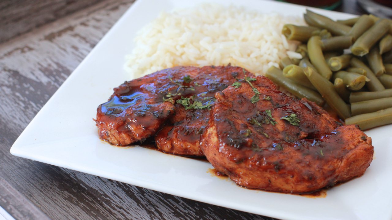 coca-cola glazed turkey chops 1