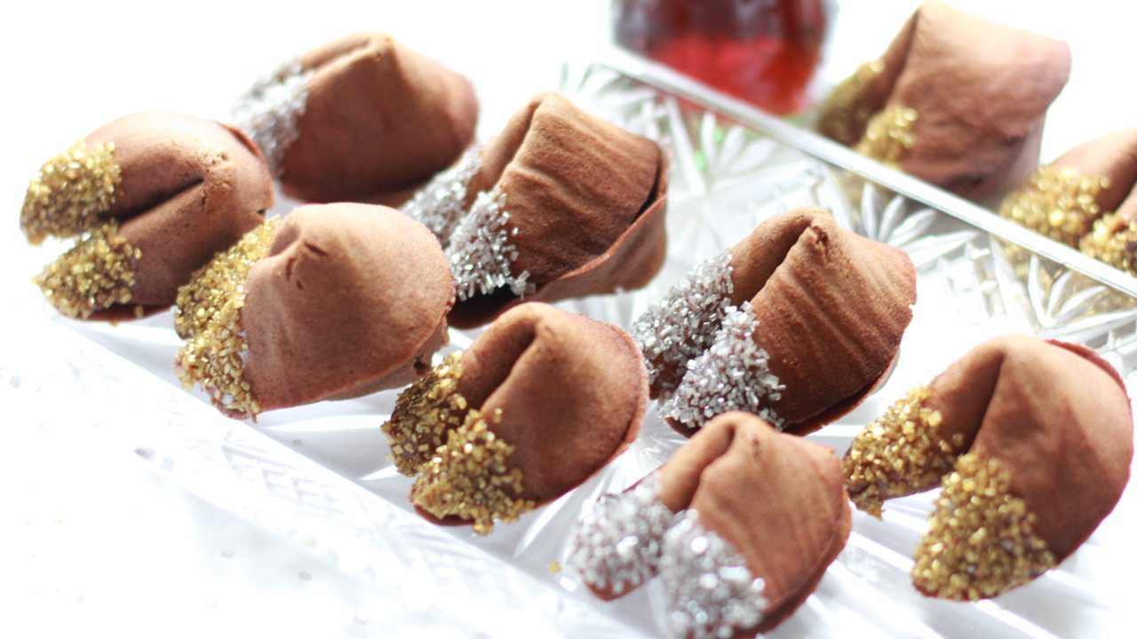 Homemade Chocolate Fortune Cookies